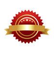 Warranty guarantee gold seal vector