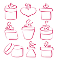 Hand drawn set gift boxes for your anniversary vector