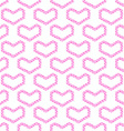 Abstract love seamless pattern - pink heart shapes vector