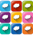 Buttons with empty cloud templates vector