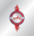 Motorcycle label sticker vector