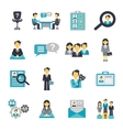 Human resources icons flat vector