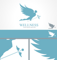 Angel wellness medical logo concept template vector