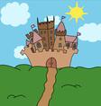 Castle on the hill art vector
