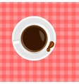A cup of coffee on the table vector