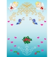 Festive greeting card vector