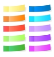 Sticky paper set vector
