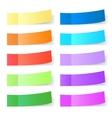 Sticky paper set vector