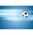 Bright blue football background vector