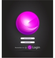Sphere login page vector