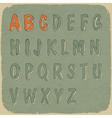 Retro styled sans serif font vector