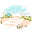 Cute zebra crossing vector