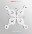Minimal infographics template easily to be vector