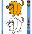 Dog game character cartoon vector