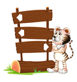 A tiger and the signboards vector