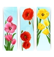 Floral banners vertical vector
