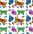 Seamless butterfly vector