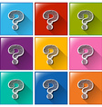 Icons with question marks vector
