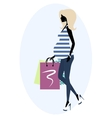 Silhouette of a fashionable pregnant woman vector