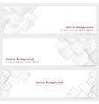 Abstract template horizontal banner vector