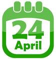 Icon easter calendar vector