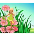 A fairy at the garden vector