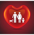 Family heart vector