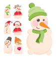 Set snowman vector