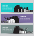 Abstract guitar background banners vector