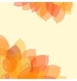 Autumn leaf background with space for text vector