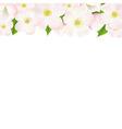 Apple tree flowers border vector