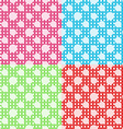 Set of four polka dot seamless patterns vector