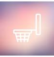 Basketball hoop thin line icon vector