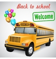 School bus with balloons vector