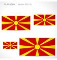 Macedonia flag template vector