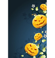 Abstract halloween background with flowers vector