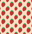 Sweet red strawberry - seamless pattern vector