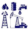 Oil industry icon set symbol vector
