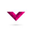 Letter v mosaic logo icon design template elements vector