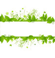 Green leaves and grass vector