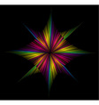 Bright abstraction on a black background vector