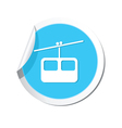 Chair lift icon round blue vector