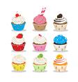 Cute cupcake vector