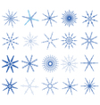 Snowflake in blue on white background vector