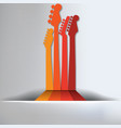 Guitar abstract background vector