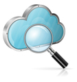 Search in cloud computing concept vector