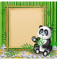 Panda bamboo vector