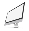 Modern widescreen lcd monitor vector