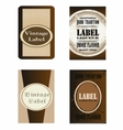 Brown labels eps template vector