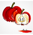 Red apple fruit vector